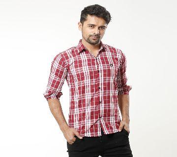 Check Slim Fit Shirt for Men