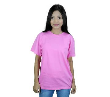 Round Neck T-shirt For Women -  Pink