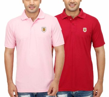 Gents short sleeve polo shirt combo offer (2 pc)
