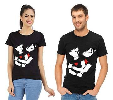 Valentine Couple Round Neck t-shirt Combo Pack