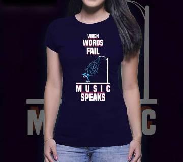 Music Speaks টি-শার্ট ফর উইমেন