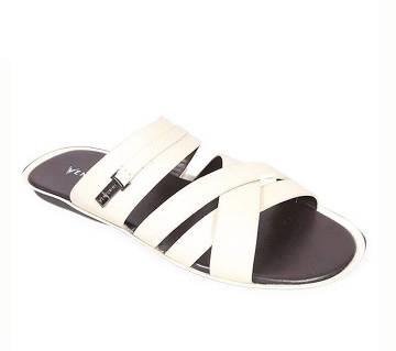 Venturini Men's White Soft Leather Sandal | AjkerDeal.com1