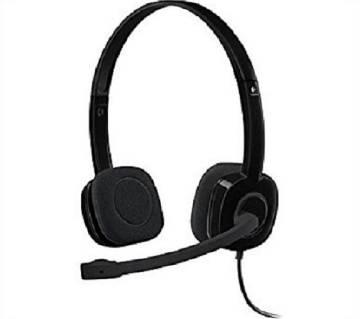 H150 Headphone Logitech Double Port