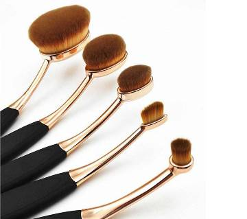 Oval Shaped Make-up Brush Set (5 pieces)