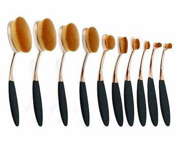 Oval Shaped Make-up Brush Set (10 pieces)