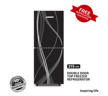 Linnex Refrigerator LNX-REF-215GD-TM-BLK