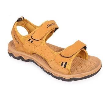 Sprint Beige Men's Leather Sandal | AjkerDeal.com1