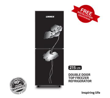 Linnex Refrigerator LNX-REF-215GD-TM-BLK-FL