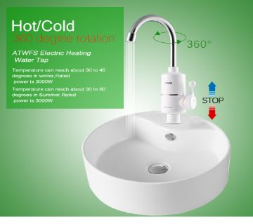 Multi temperature hot water heater basin electric tap, plug & play