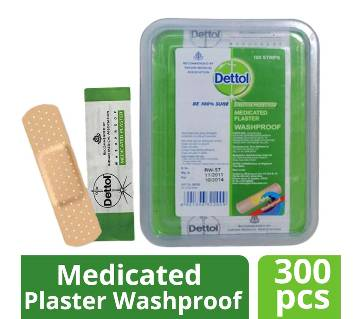 Dettol Medicated Plaster Wash-proof-100pc