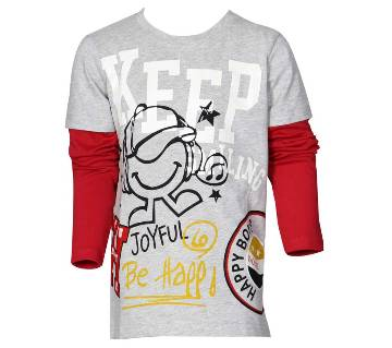 Le Reve Kids Boys Long Sleeve Round Neck T-Shirt KBLT14113