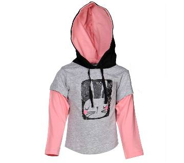 Le Reve Kids Girl Long Sleeve Hoodie T Shirt KGFHT14015