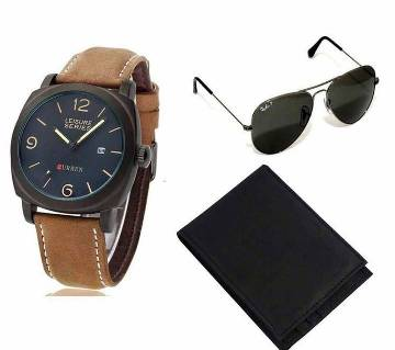 Ray-Ban (copy) sunglasses & Curren LEISURE watch & Wallet